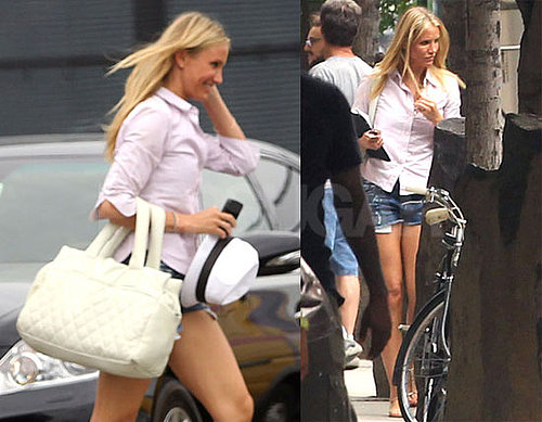 Pictures of Cameron Diaz and Alex Rodriguez Arriving in NYC