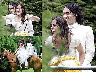 Pictures of Jennifer Garner Shooting Arthur With Russell Brand in Central Park