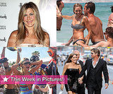 Pictures of Brad Pitt and Angelina Jolie at Salt premiere, Sienna Miller in Bikini, Paris Hilton Partying, Jennifer Aniston
