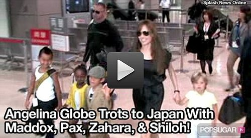 Video of Angelina Jolie in Japan With Her Kids