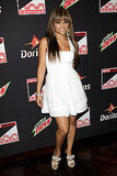 Pop crooner Kat DeLuna wore a stark white frock and white sandals to a party recently.