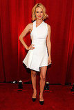 January again looking super fashion-forward in her architectural hem Versace LWD at the ESPY Awards.