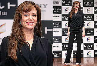 Pictures of Angelina Jolie Promoting Salt in Japan