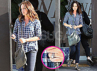 Pictures of Emily Blunt With Her Wedding Ring in LA