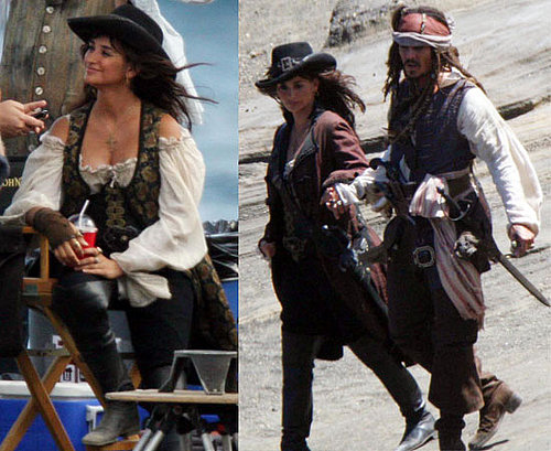 Pictures of Johnny Depp, Penelope Cruz and Geoffrey Rush Filming Pirates of the Caribbean 4 On Stranger Tides