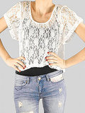 Web of Lies Lace Crop Top, $19.90 (on sale), MINKPINK from About A Girl