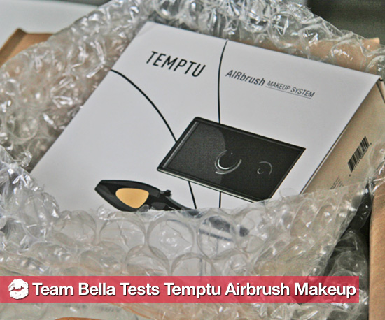Team Bella Tests Airbrush Makeup