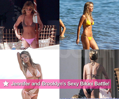 Pictures of Brooklyn Decker and Jennifer Aniston in Bikinis