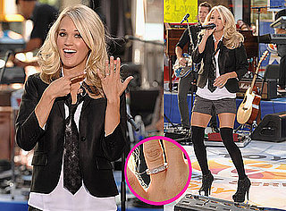 Pictures of Carrie Underwood Flashing Her Engagement Ring