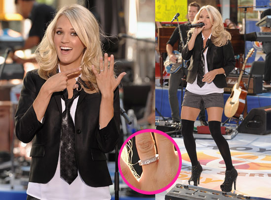 Carrie Underwood Flashes her Wedding Ring on The Today Show