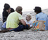 Slide Picture of Ashlee Simpson, Pete and Bronx Wentz in Malibu