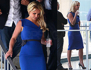 Pictures of Britney Spears In Blue Dress at Movies in LA