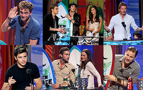 Pictures of Robert Pattinson, David Beckham, Glee Cast, Vampire Diaries at 2010 Teen Choice Awards