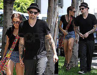 Nicole and Joel Stroll and Hold Hands as She Preps for Her Return to Chuck
