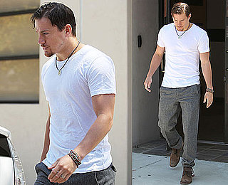 Pictures of Channing Tatum in White T-Shirt in LA