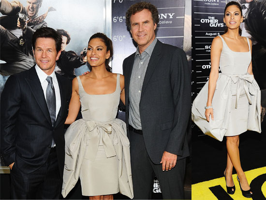 Pictures of Eva Mendes, Mark Wahlberg and Will Ferrell at The Other Guys Premiere