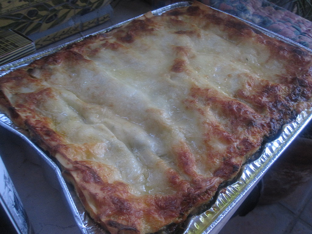 Spinach, Pesto, and Fontina Lasagna