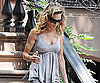 Slide Picture of Sarah Jessica Parker Wearing a Khaki Polka Dot Tank Top in NYC