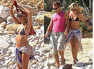 Pictures of Sienna Miller in Bikini and Jude Law on Beach in Spain