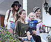 Slide Picture of Ashlee Simpson, Pete Wentz, and Bronx Wentz in LA