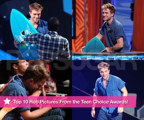 The Top 10 Robert Pattinson Photos From the Teen Choice Awards!