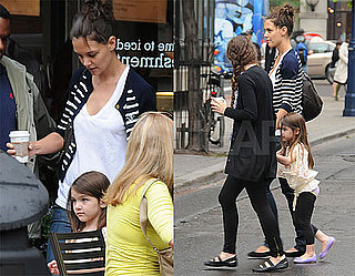 Pictures of Katie Holmes and Suri Cruise Leaving a Coffee Shop in Toronto