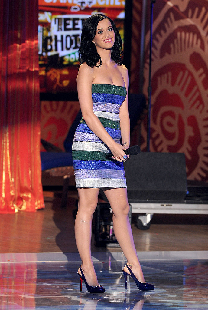 Even Katy's most toned-down TCA outfit still shimmered.