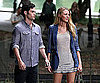 Slide Picture of Blake Lively and Penn Badgley Filming Gossip Girl in NYC