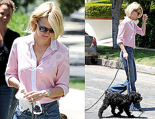 Pictures of January Jones Walking Her Dog in LA