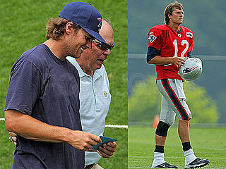Pictures of Tom Brady at Training Camp in Foxboro, MA