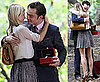 Pictures of Clemence Poesy and Ed Westwick Hugging On Gossip Girl Set