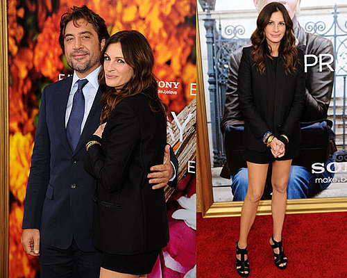 Pictures of Julia Roberts and Javier Bardem at Eat Pray Love Premiere in New York