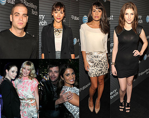 Lea Michelle, Nikki Reed Play Telephone at the BlackBerry Party in LA 2010-08-12 16:00:02