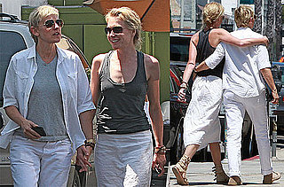 Pictures of Ellen DeGeneres and Portia de Rossi in LA