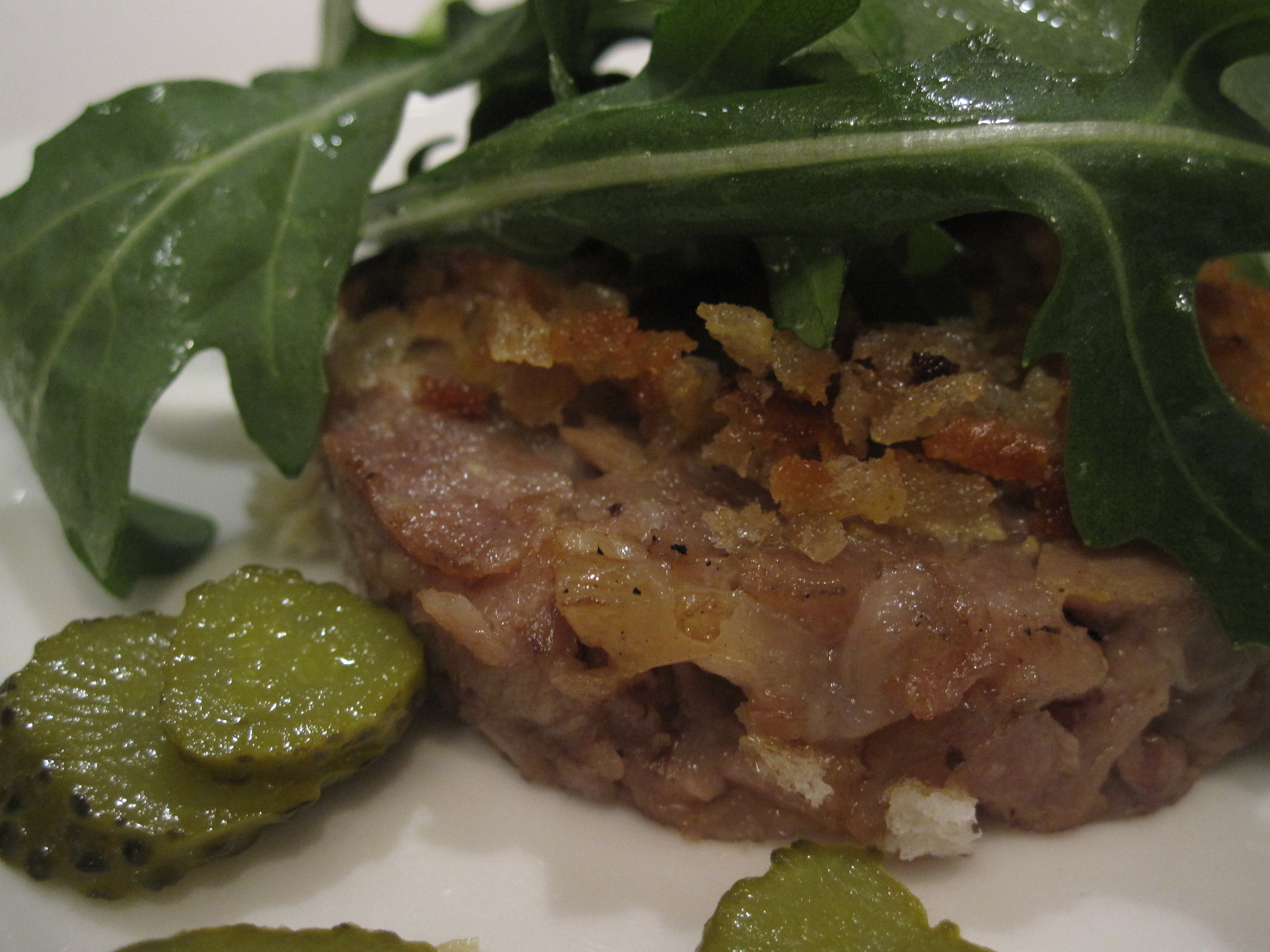 Scrapple with arugula and pickles was the final scrumptious dish.