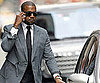 Slide Picture of Kanye West Wearing Suit in New York