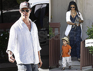 Pictures of Matthew and Levi McConaughey Adopting a Cat With Camila Alves in Malibu