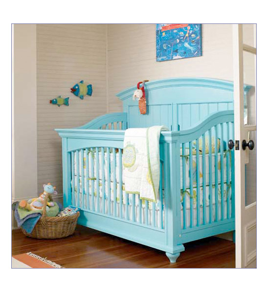 Posh Palette Panel Spindle Convertible Crib