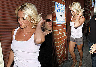 Pictures of Britney Spears Arriving at the Studio in Short Shorts in LA