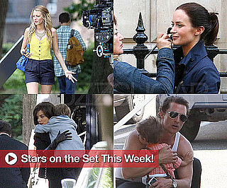 Pictures of Emily Blunt, Blake Lively, Katie Holmes, Matthew McConaughey on the Set