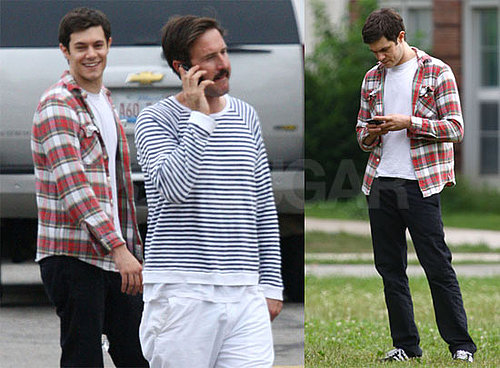 Pictures of Adam Brody and David Arquette on the Set of Scream 4