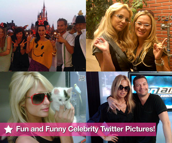 Britney Spears, Katy Perry, Rachel Zoe, and Paris Hilton in This Week's Fun and Funny Celebrity Twitter Pictures!
