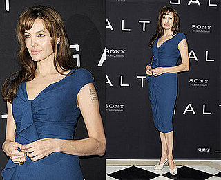 Pictures of Angelina Jolie Promoting Salt in Europe