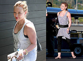 Pictures of Hilary Duff and Mike Comrie Head Home From Honeymoon