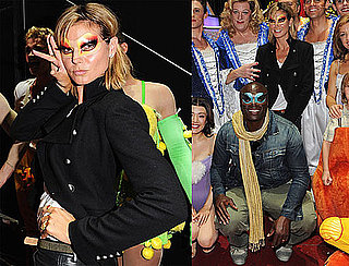 Pictures of Heidi Klum and Seal in Makeup at Palace Theater in London