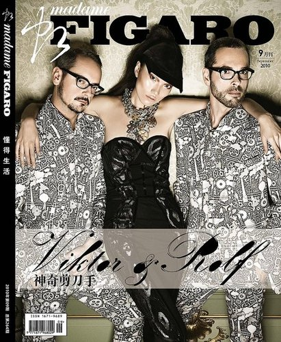 The first appearance of Viktor & Rolf on a China fashion magazine