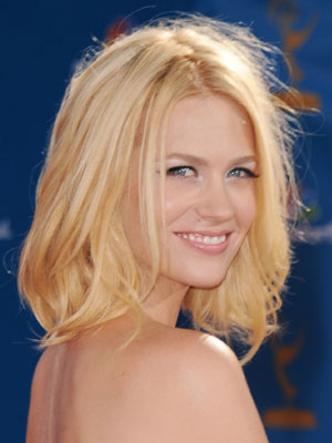 January Jones at 2010 Emmy Awards