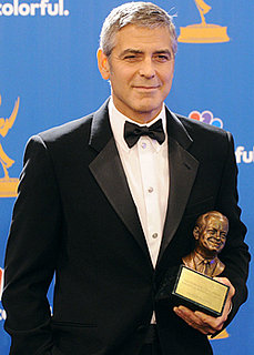 George Clooney Talks Elisabetta, Brad Pitt, and John Krasinski in the Emmys Press Room 2010-08-29 20:10:12