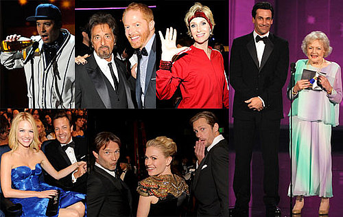 Pictures of Tina Fey, Steve Carell, Lea Michele, George Clooney, January Jones, jason sudeikis at 2010 Emmy Show