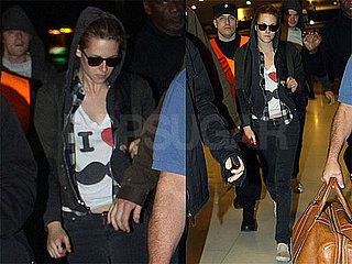 Pictures of Kristen Stewart Leaving Argentina